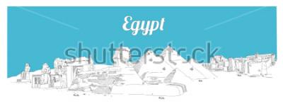 Image EGYPTE dessin principal illustration panoramique croquis