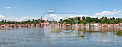 Elbe bei Lauenburg Panorama
