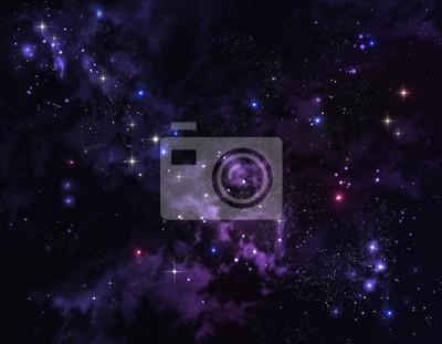 élégant fond de ciel étoilé dans l'espace ouvert