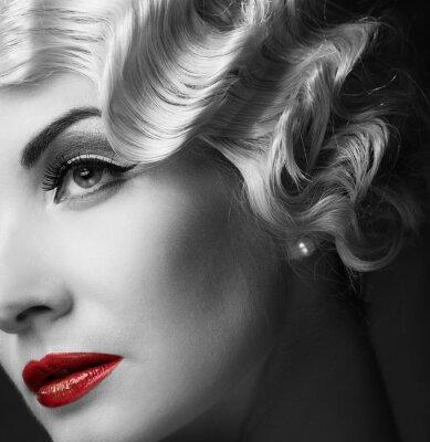 Image Elégante blonde rétro femme