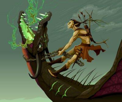 Image Elf monte le dragon