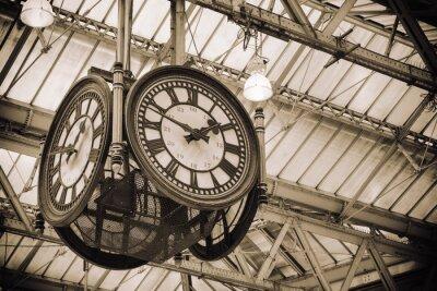 Image emblématique vieille horloge Waterloo Station, Londres
