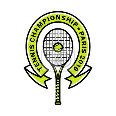e2c0a91b68cce Image Emblème de championnat de tennis, illustration, logo, style de ligne  moderne,