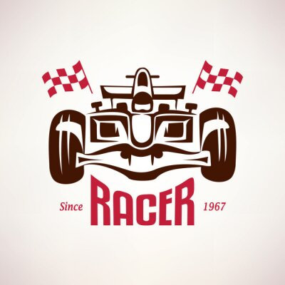 Image emblème de voiture de course formule, symbole course de bolide