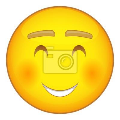 Emoticone Sourire Avec Icone Yeux Souriants Dessin Anime Illustration Peintures Murales Tableaux Emoticones Smileys Rire Myloview Fr