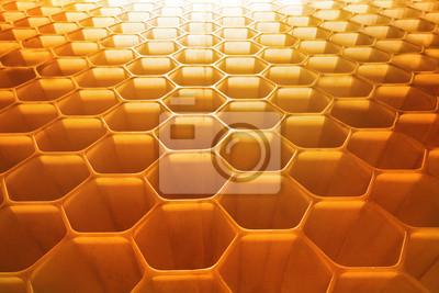 en nid d'abeille en toile de fond parfaite