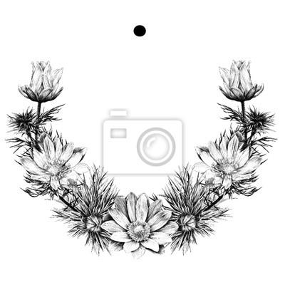 Couronne de fleurs dessin simple - Colorier une fleur ...