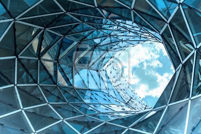 Image Énorme trou dans un bâtiment contemporain à Francfort.