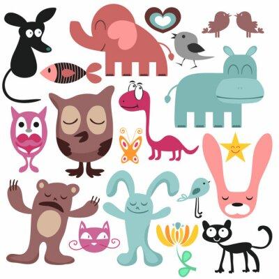 Image Ensemble aléatoire de divers animaux drôles