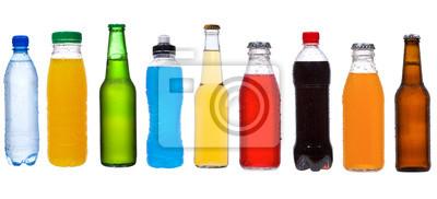 ensemble avec différentes bouteilles