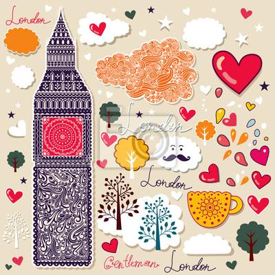 Ensemble de symboles de Londres