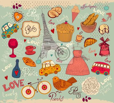 Ensemble de vecteur de symboles de Paris