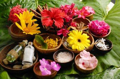 Image Ensemble spa de fleurs tropicales