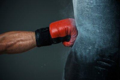 Image entraînement de boxe et un sac de boxe