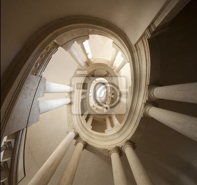 escalier par Borromini Italie, Roma, Palazzo Barberini