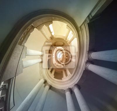 escalier par Borromini Italie, Rome, Palazzo Barberini