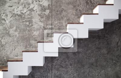 Image Escaliers En Bois Et Blanc Sur Mur De Pierre Noir Ou Gris à Lu0027