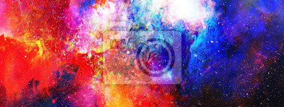 Image Espace cosmique et les étoiles, la couleur du fond abstrait cosmique.
