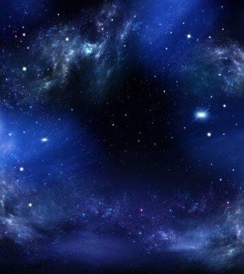 Image Espace, résumé, bleu, fond