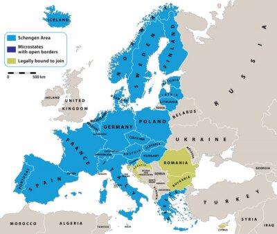 Image Espace Schengen sur l'Europe carte politique. Toutes les données sont dans des couches pour faciliter édition de la carte de vecteur. Contexte pour vos infographie.