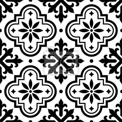 Image Espagnol Carreau Modèle Marocain Tuiles Conception Seamless