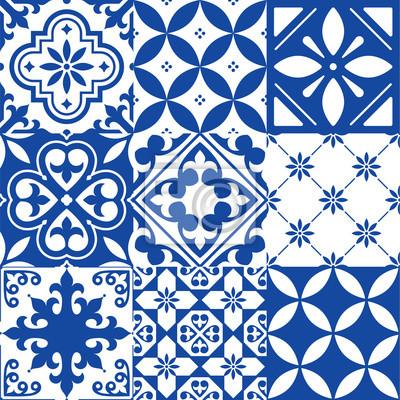 Image Espagnol Carreaux Marocain Tuiles Conception Seamless