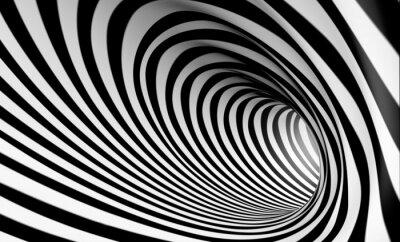 Image Espiral Fondo blanco y negro en 3d abstracta