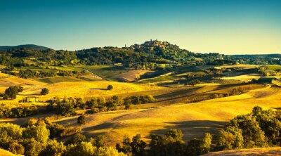 Image Été Toscane, village médiéval de Montepulciano. Sienne, Italie