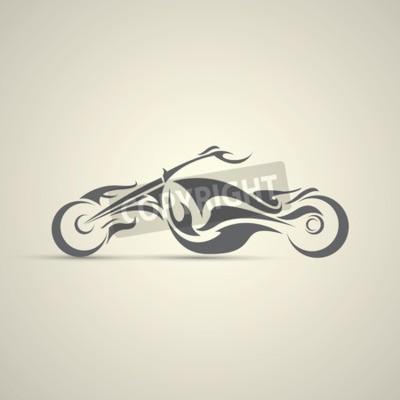 Image étiquette de moto vintage, insigne, élément de conception. logo abstrait de la moto