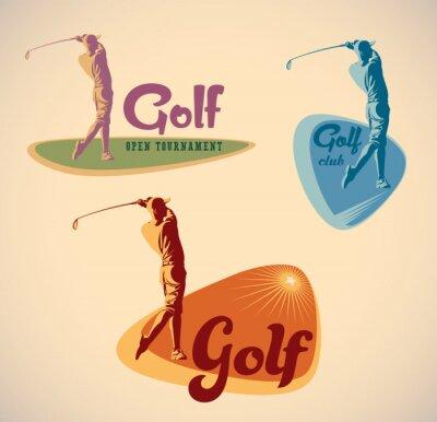 Image étiquettes de golf