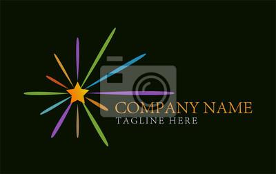 Image Etoile Coloree Rafale Abstraite Logo Design Concept Et Modele De Carte Visite