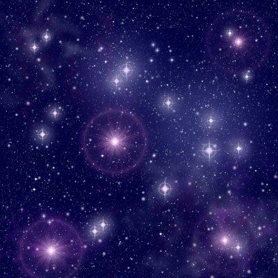Image Étoiles lumineuses dans l'espace profond