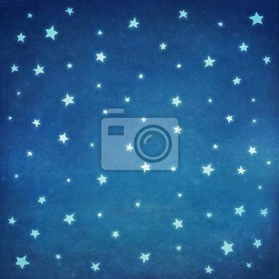 Étoiles, nuit, ciel, fond, Illustration, art