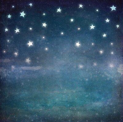 Image Étoiles, nuit, grunge, ciel, fond