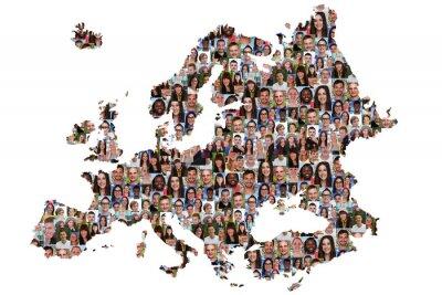 Image Europa Karte Menschen junge Leute Gruppe Integration multikultur