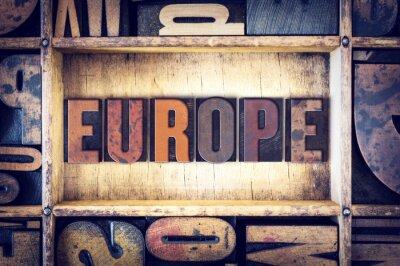 Image Europe, concept, typographie, type