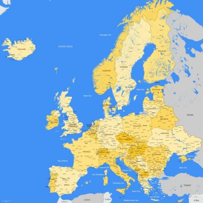 Image Europe map cities