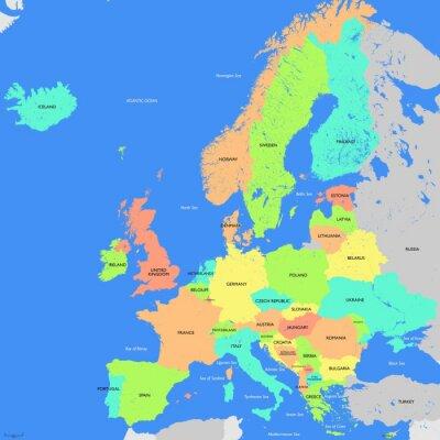 Image Europe map detailed