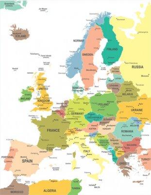 Image Europe map - très détaillées illustration vectorielle.