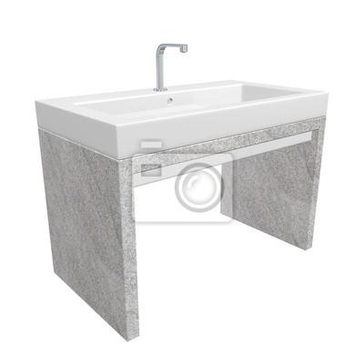 Évier de salle de bain moderne avec céramique ou en acrylique ...