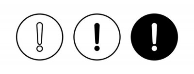 Image Exclamation danger sign vector icon set. attention sign icon. Hazard warning attention sign. icon alert. Risk