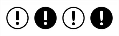 Image Exclamation mark vector icon