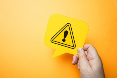 Image Exclamation mark, warning and safety concept