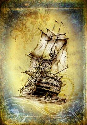 Image Expédier sur la mer ou l'océan art illustration