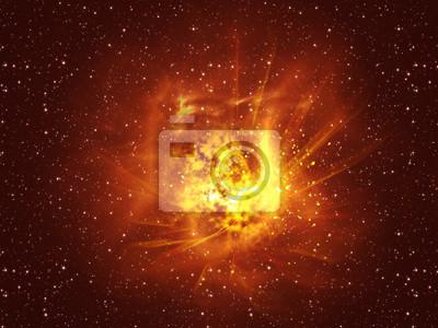 Exploding Star dans l'espace