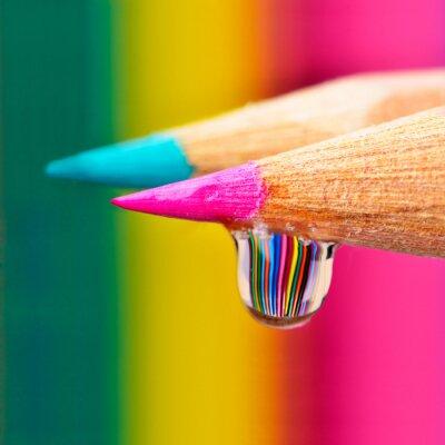 Image explosion de couleurs sur une baisse