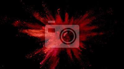 Image Explosion de poudre colorée sur fond noir.