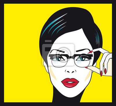 Image Eyewear femme portrait de gros plan. Femme portant des lunettes ho 7b1038471aa7