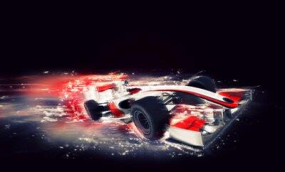Image F1 générique avec effet de vitesse spéciale