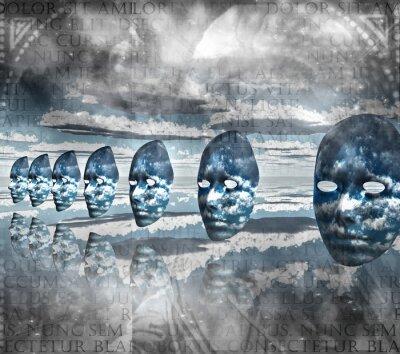Image Faces vide dans la composition abstraite